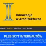 Plebiscyt murator innowacje w architekturze